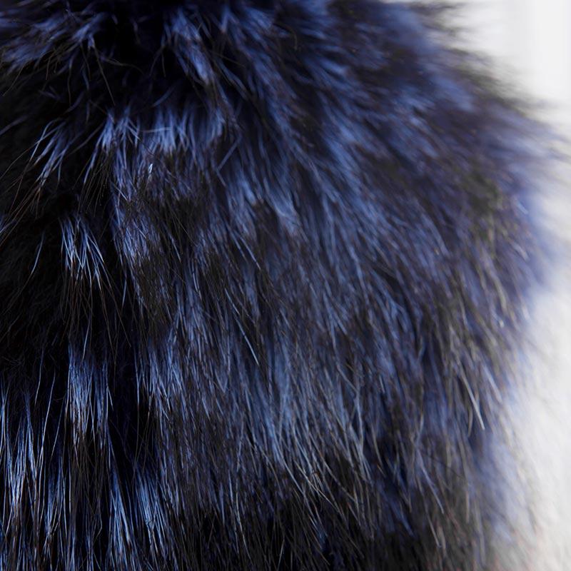 Bordo pelliccia blu nero per giacche fur scarf | Nicola Pelliccerie
