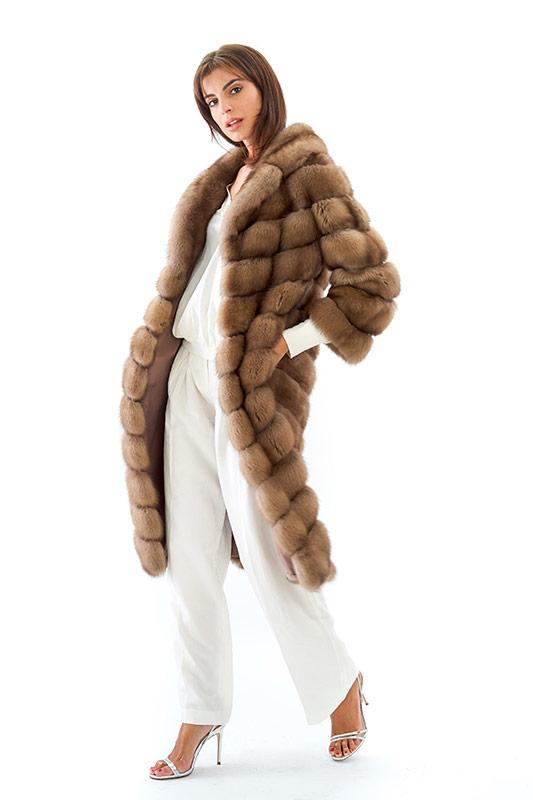 Cappotto zibellino diagonale | Nicola Pelliccerie