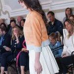 Giacca Pelle Chanel Arancione Salmone Misura Gonna Pieghe Bianca | Nicola Pelliccerie