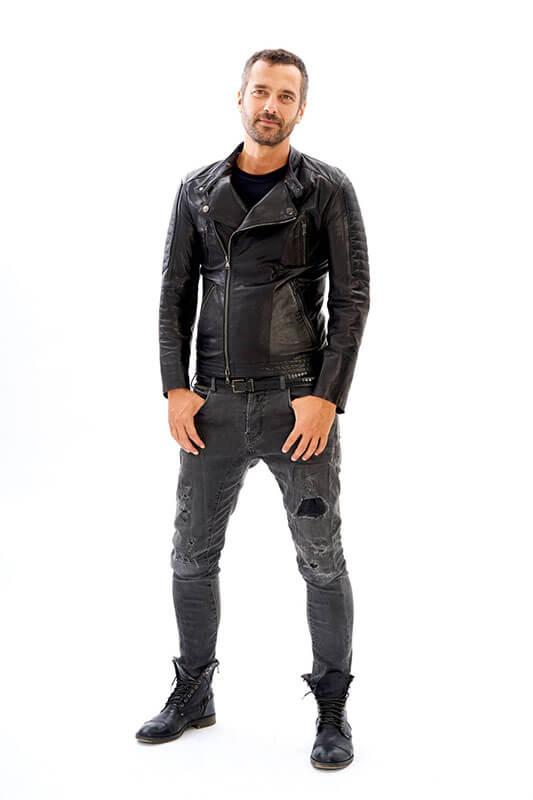 Giubbino Chiodo Biker Pelle Invecchiata Personalizzato Uomo | Nicola Pelliccerie