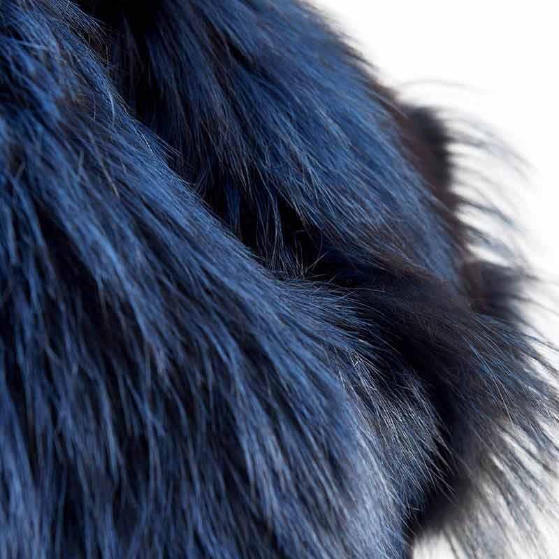 Scaldacollo volpe blu oltremare cobalto | Nicola Pelliccerie