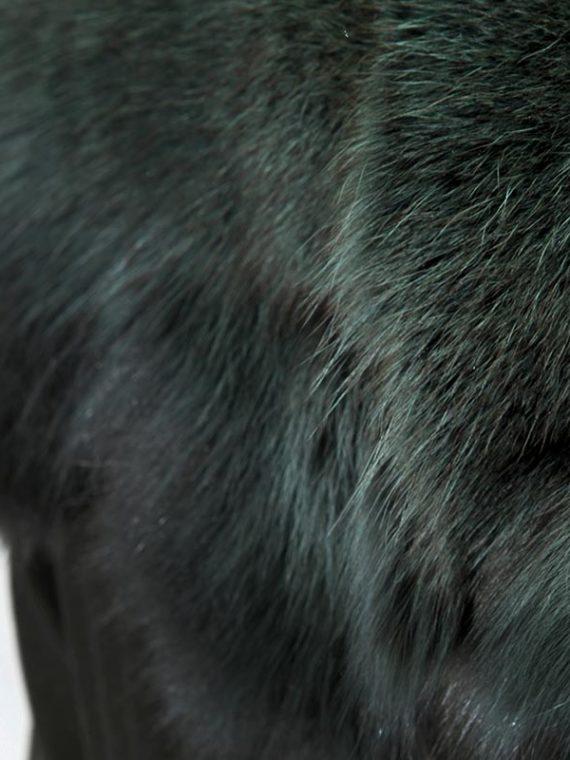 Sciarpa verde bosco collo volpe warm green fox scarf | Nicola Pelliccerie
