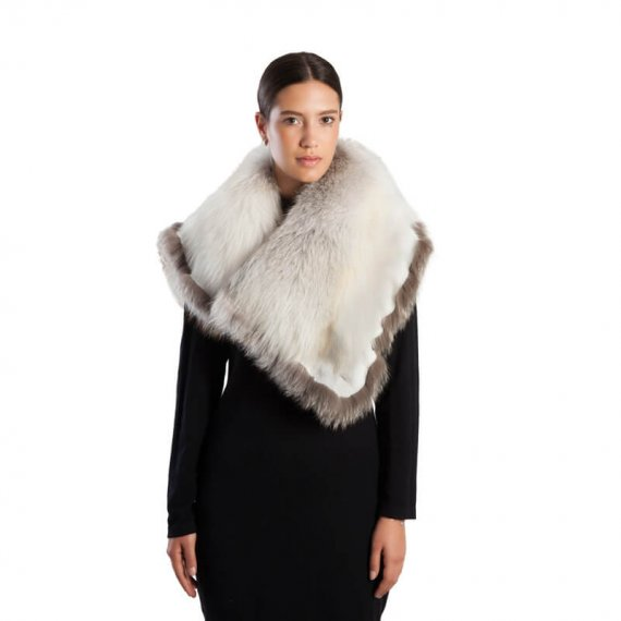 Sposa Collo volpe bianca grande | Nicola Pelliccerie
