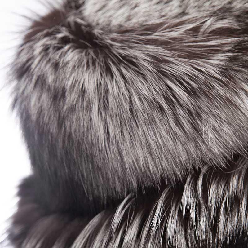 Accessorio cerimonia volpe argentata | Nicola Pelliccerie
