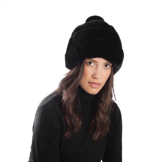 Cappello pelliccia vera donna pon | Nicola Pelliccerie