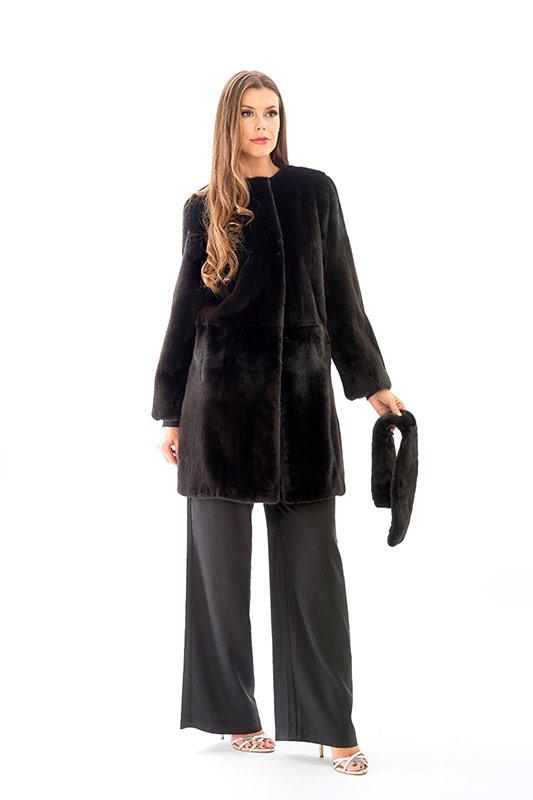 Cappottino visone blackglamar nero naturale | Nicola Pelliccerie