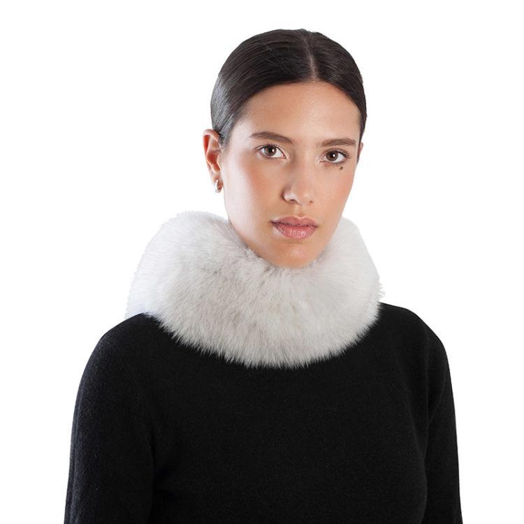 Collo anello sciarpa volpe bianca | Nicola Pelliccerie