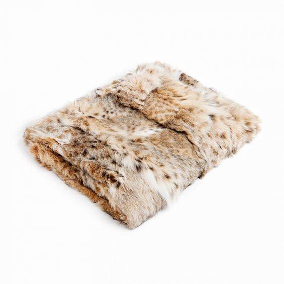 Coperta pelliccia matrimoniale naturale linciotto plaid chalet montagna | Nicola Pelliccerie