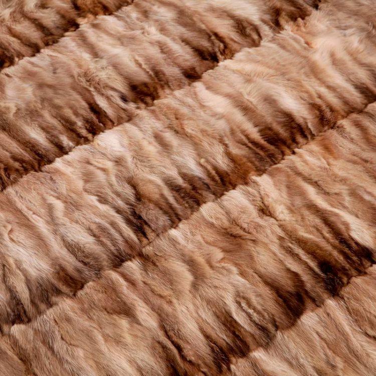 Coperta plaid pelliccia zibellino naturale 225x130 cm cachemire baita | Nicola Pelliccerie