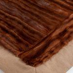 Copridivano pelliccia visone naturale plaid lana | Nicola Pelliccerie