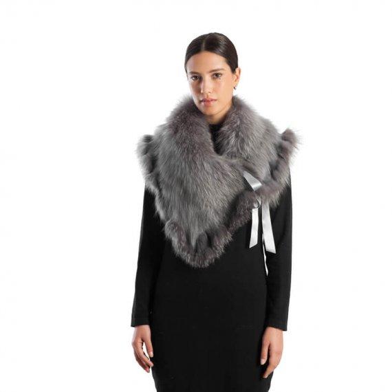 Coprispalle volpe grigio perla abito | Nicola Pelliccerie