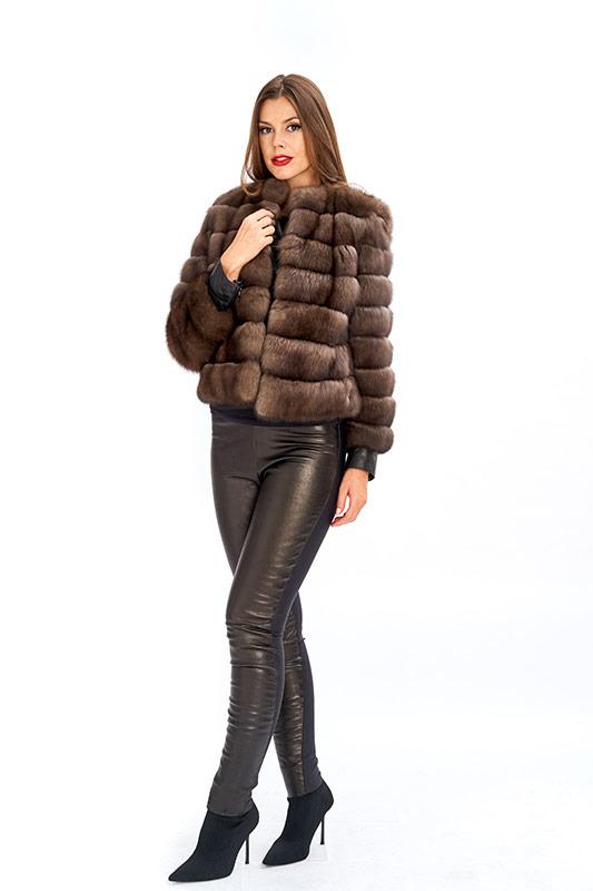 Giacchino cappa zibellino russo naturale ragazza Italy | Nicola Pelliccerie