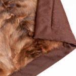 Plaid matrimoniale pelliccia zibellino naturale 225x130 cm cachemire | Nicola Pelliccerie