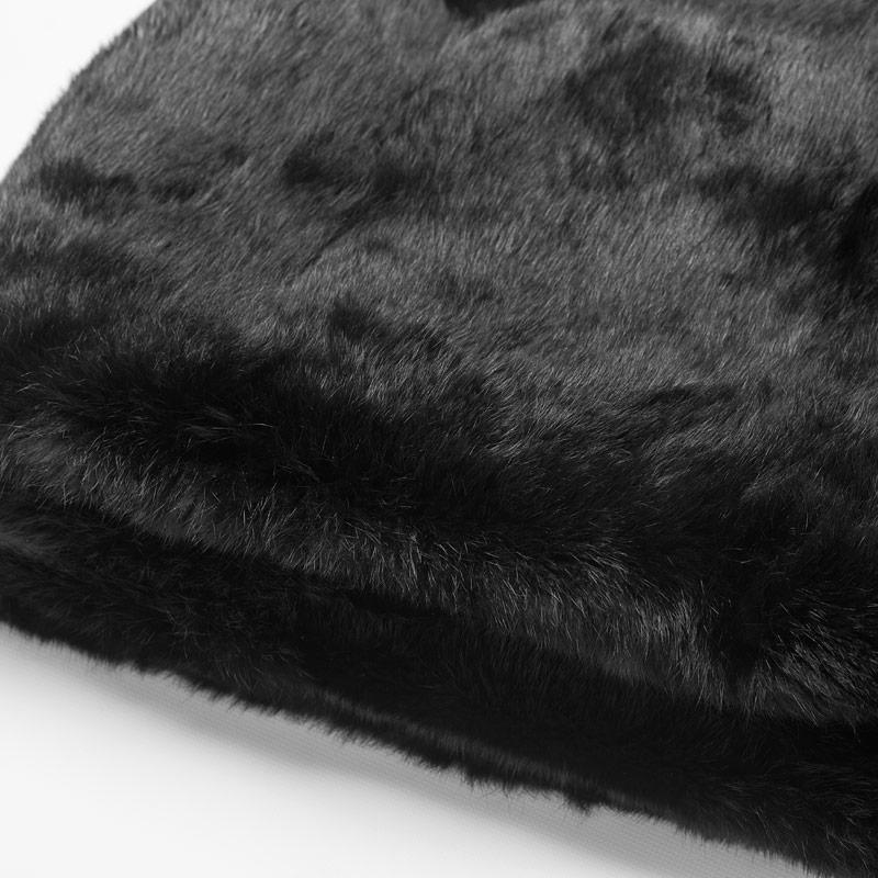 Plaid pelliccia nero coperta letto singolo divano 110x170 cm lana | Nicola Pelliccerie