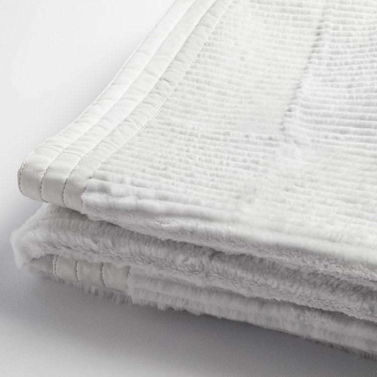 Plaid matrimoniale pelliccia lapin bianco | Nicola Pelliccerie