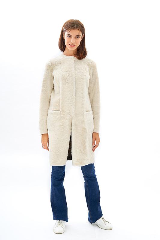 Shearling reversibile bianco pelliccia leggera ragazza | Nicola Pelliccerie